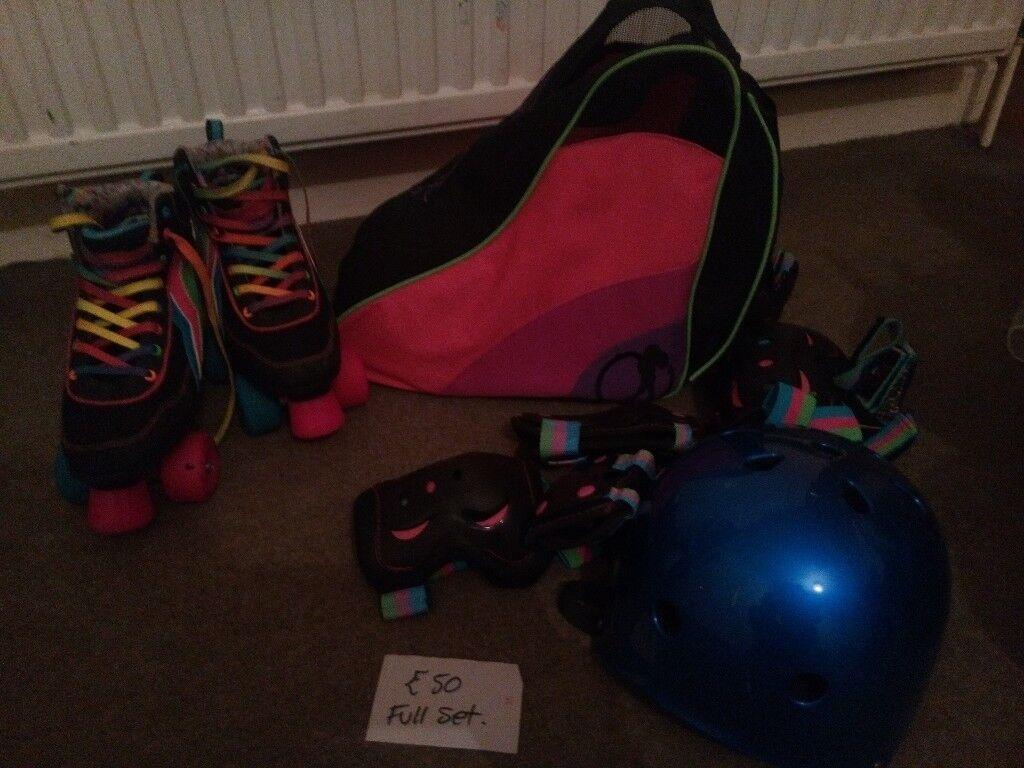 four-wheel skates multicoloured + full set