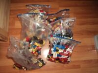 7 bags of lego