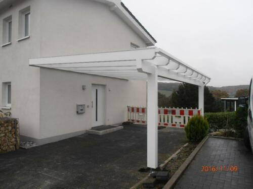 Carport Terrassenuberdachung Holz 10 Mm Vsg Lasur In Anthrazit In