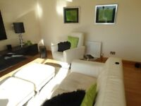 OFFERS - Off White 2 Leather Chairs c/w Foot Stools & 2 Seater Couch - OFFERS
