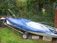 A lark sailing boat