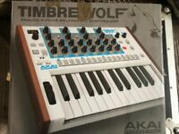 Akai Timbre Wolf Analog 4 voice synthesizer synth boxed as new