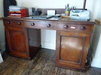 Vintage solid wood mahogany desk