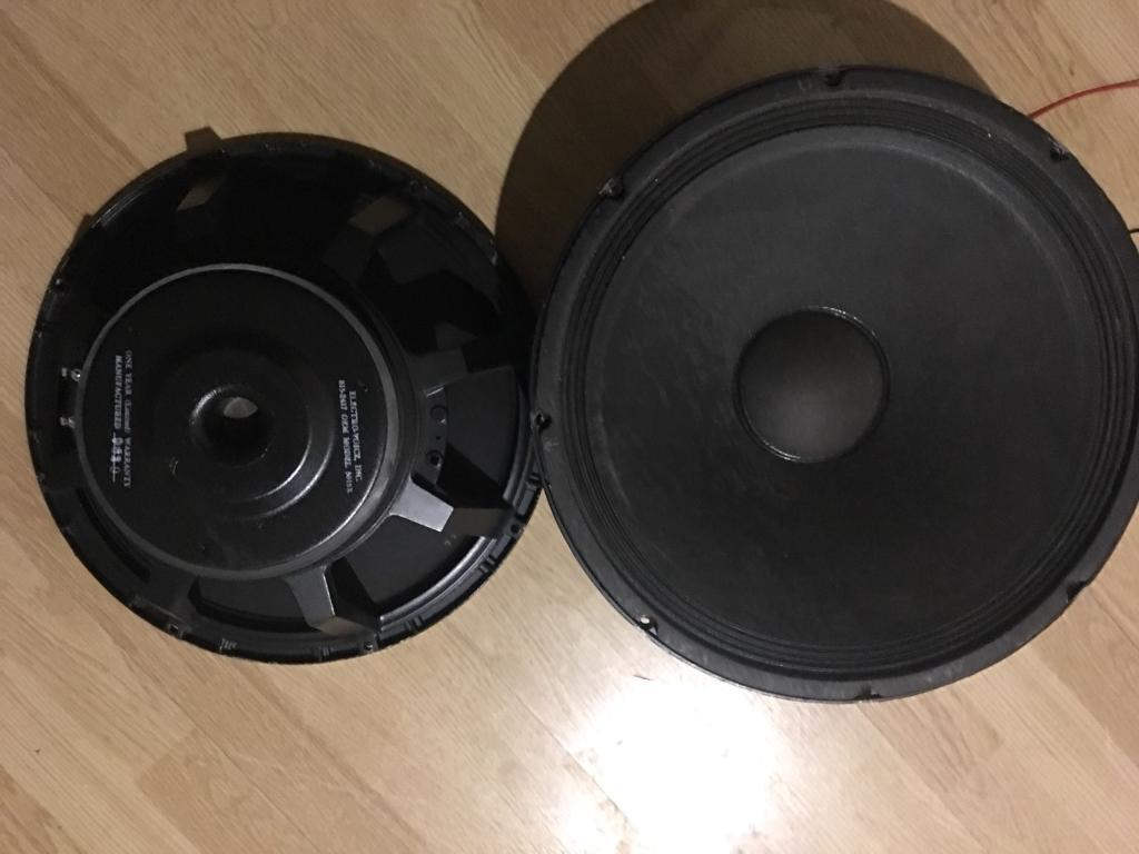 "15"" EV speaker drivers 350w RMS x 2"