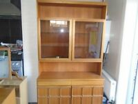 large old wood display unit
