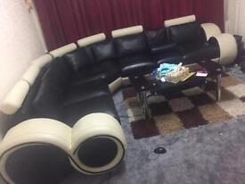 Moderm Corner Leather Sofa Italian designer L@@K