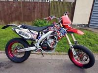 Road Registered 2007 Honda CRF 450 R Twin Pipe Supermoto On Road Legal Conversion MX Motocross Dirt