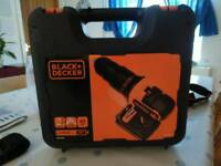 Black & Decker 18v Combi Drill with 2 Lithium Batteries