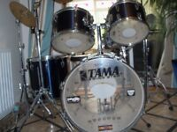 TAMA SWINGSTAR 5 PIECE DRUM KIT WITH FULL HARDWARE. USED IN GOOD CONDITION.