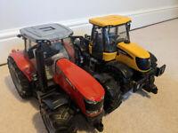 Bruder Toys Massey Ferguson 7624 & JCB Fastrac 3220 Tractors