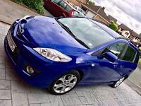Mazda 5 2.0L petrol car in aurora blue - 7 seater! 79000 miles - High Spec