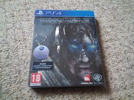 EXCELLENT Shadow of Mordor Collectors Edition Game LIKE NEW PLAYED ONCE £25 NO OFFERS