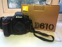 Nikon D610 with MB-D14