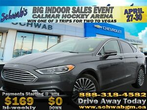 2017 Ford Fusion SE, EcoBoost, AWD, Push Button Start, USB Ports