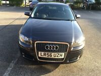 Audi A3 2.00 TDI (170PS) 56 plate 2006 one owner FSH MOT expires July 2017