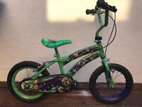 Boys teenage mutant ninja turtles bike