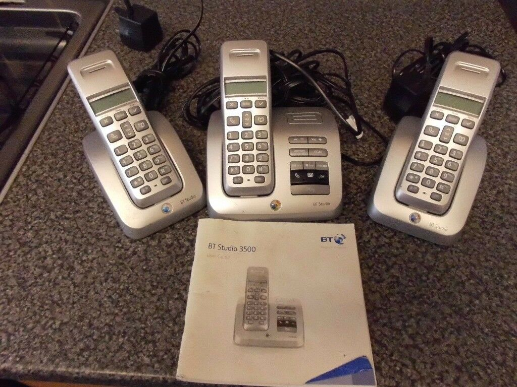 BT STUDIO TELEPHONES INCLUDING ANSWER PHONE