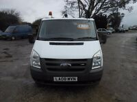 ford transit t85 300s swb fwd, 2008 reg, only 91,000 miles, new mot on purchase, twin sliding doors,