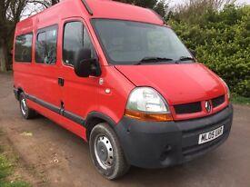 2005 Renault 100 DCi 9 seater mini-bus ony 64000 miles