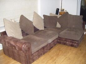 Corner Faux Leather Right Hand Sofa