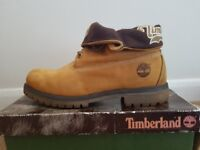 RARE Nearly New Men's Timberland Authentic Roll Top Ankle Boots - Size 10 Tan Wheat Colour