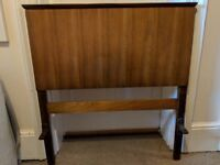 Beautiful vintage wooden headboard and tailboard - single bed