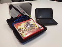 Nintendo 3DS XL Console - Grey + Pokemon Omega Ruby + Travel Case + Travel Charger