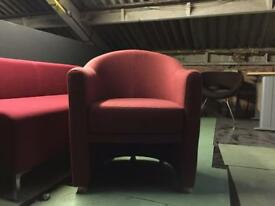 2 Red Armchair by Boss Design FOR SALE