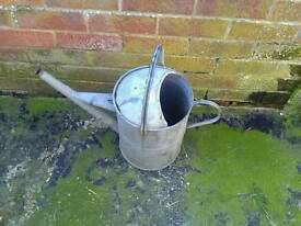 Vintage old tin watering can large