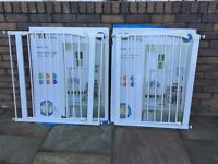 2 x Mothercare Tall Metal Safety Gate - White