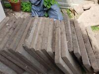 25 concrete 600mm x 600mm paving slabs for sale