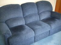 3 SEATER SOFA IN BLUE