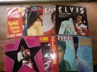 Elvis Record LP's x8 (62#)