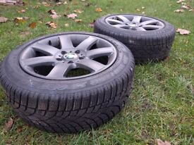 Winter tyres with rims BMW and other cars PCD 5 x 120 215/55/17