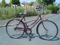 VINTAGE LADIES GIRLS RALEIGH CAPRICE CAMEO DUTCH STYLE BICYCLE 3 SPEED