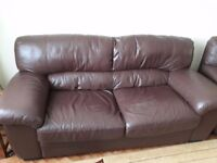 Leather Sofa's and Armchair For Sale