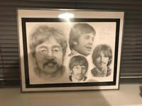 Beatles pencil drawing