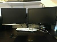 Dual 23inch HD Monitor - Ideal for Gaming, Graphics Development, Programmers. MUST SEE!