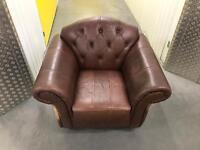 Leather arm chair sofa, Free delivery