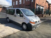MINUBUS RENAULT TRAFIC 2006 9 SEATER MPV 175MLS DRIVES ABSOLUTELY PERFECT IMMACULATE CONDITION