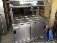 FAST FOOD BAIN MARIE WARMER SERVER CATERING COMMERCIAL TAKE AWAY SHOP RESTAURANT KITCHEN