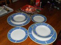 Royal Norfolk Diniing/Side/Deep plates in blue.