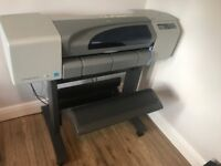 HP Designjet A1 plotter with stand - needs belt replacement