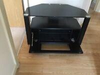 Black glass tv cabinet. Perfect condition