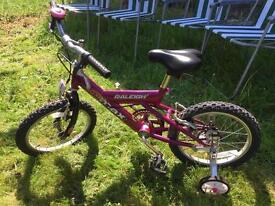 Used Bicycle with safety wheels, suitable for 5 to 7 yrs old!
