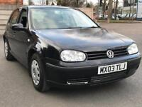 2003 VW GOLF 1.4 * 5 DOOR * 1 OWNER FROM NEW * NEW 12 MONTHS MOT * PX * DELIVERY