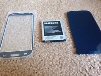 Samsung S4 glass screen, protector & spare battery.