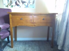 Woodern Consort table with two pull out drawers at the front good condition