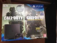 PS4 1TB with 2 games new