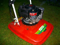 ALLEN PROFESSIONAL 21 INCH CUT TWO STROKE HOVER MOWER IN WORKING ORDER, 5HP ENGINE